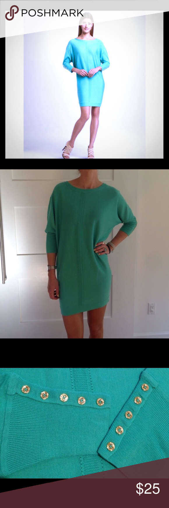 34f344ecdd PRICE DROP Lily Pulitzer Bloomfield Sweater Dress Beautiful turquoise Lily  Pulitzer dress. Perfect for your spring or summer wardrobe.