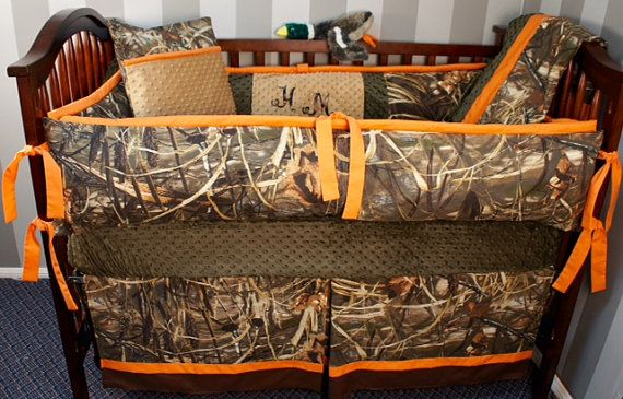 Custom Made Baby Crib Bedding Realtree Advantage By