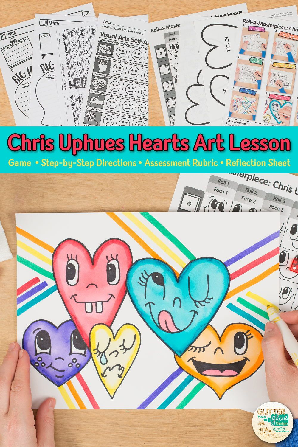 Photo of Chris Uphues Hearts Art Game