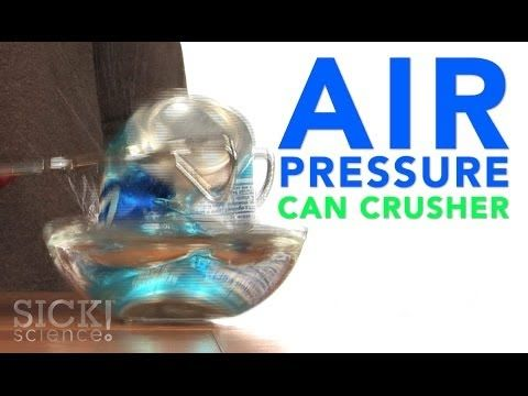 Air Pressure Can Crusher - this experiment shows how only