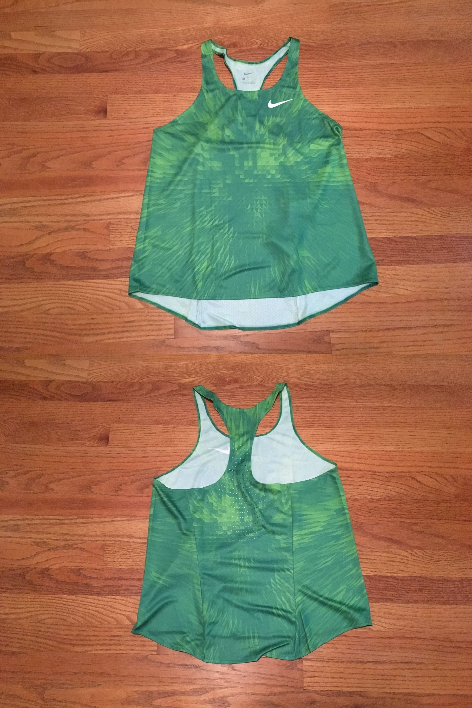 9d0a5b04d7a2 Women Athletics  New Nike Women S M Digital Race Day Elite Running Singlet  Green -