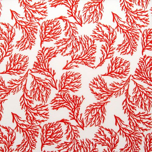 Coral Pattern Fabric coral print fabric | around the house | pinterest | coral print