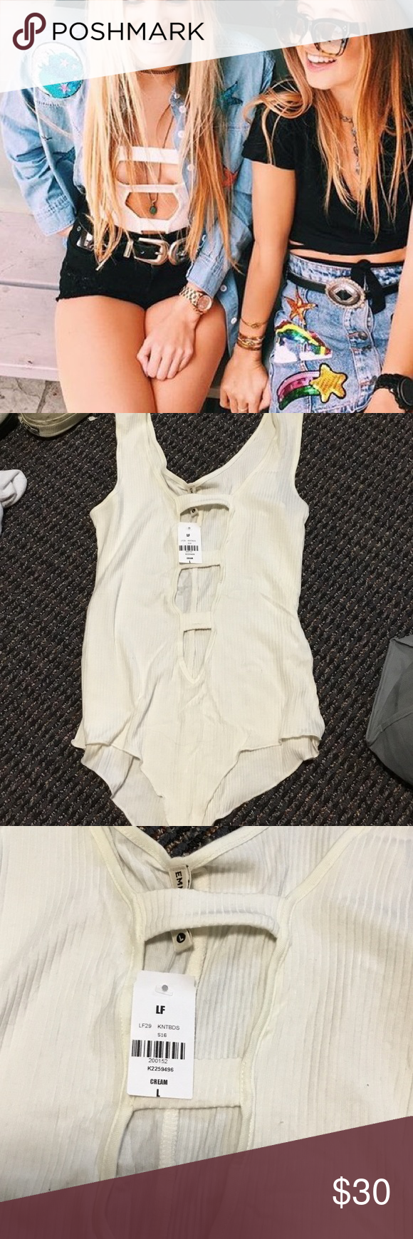 LF Stores White Ladder Bodysuit Brand new with tags. LF Tops Tank Tops