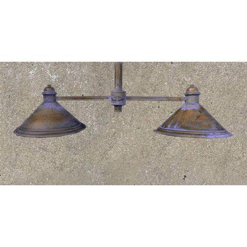Lustrarte Lighting Rustik American Coop Two Light Chandelier
