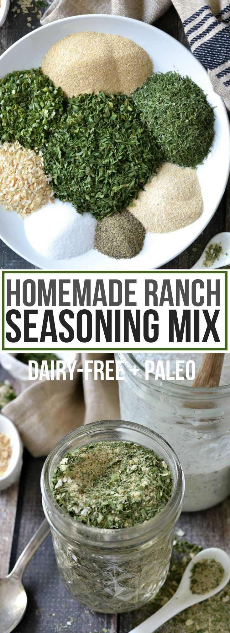 Homemade Ranch Seasoning Mix (Dairy-Free + Paleo) - Mother Thyme