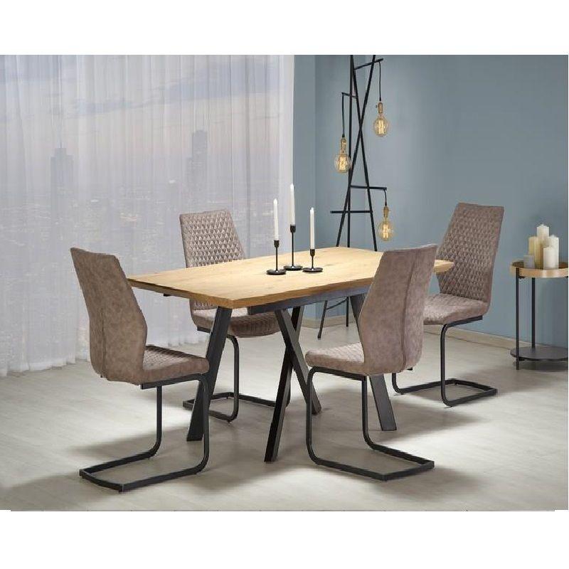 Capital Összecsukható Asztal 160200 cm Arany TölgyFekete