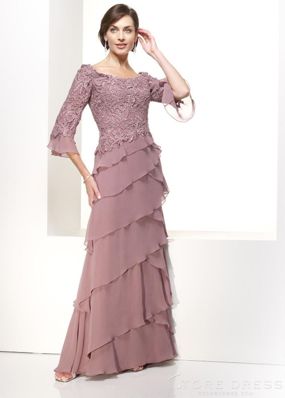 Fusion aline jewel sweepbrush tiers evening dress at storedress