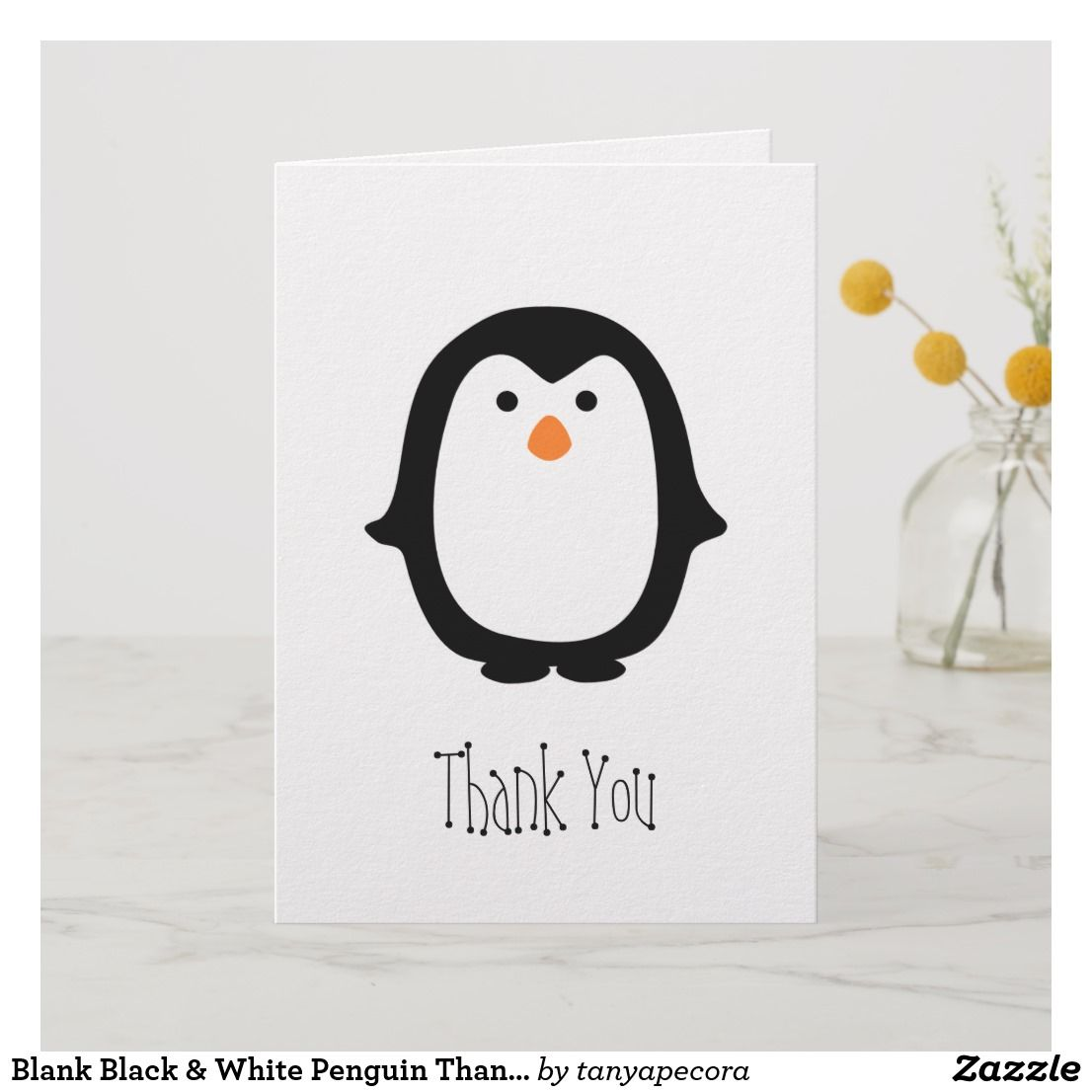 Blue Penguins Note Cards With Envelopes