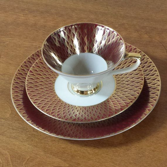 tea trio set johann seltmann cup saucer dessert plate. Black Bedroom Furniture Sets. Home Design Ideas