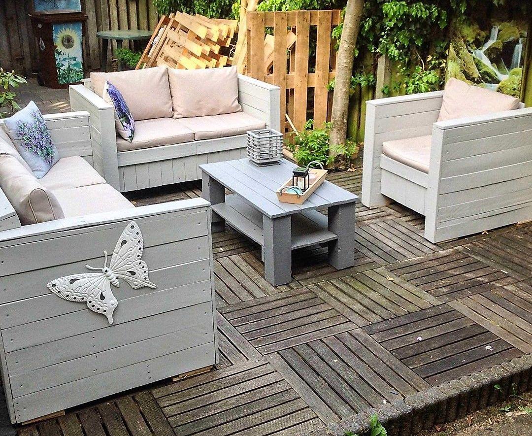 pallets wooden garden deck furniture | pallet outdoor furniture
