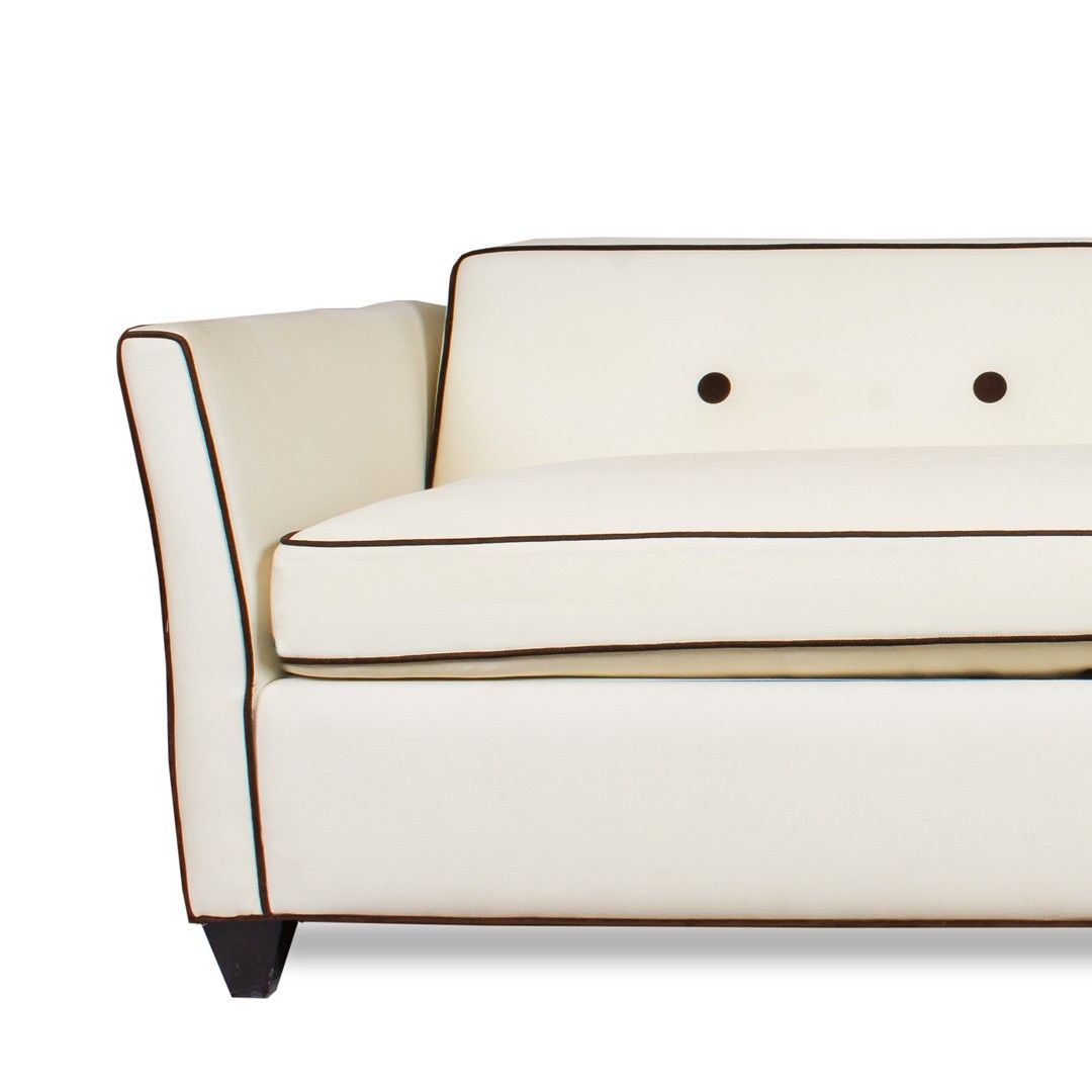 Swell Carlyle Sofa With Ivory Upholstery And Brown Piping Sofa Cjindustries Chair Design For Home Cjindustriesco