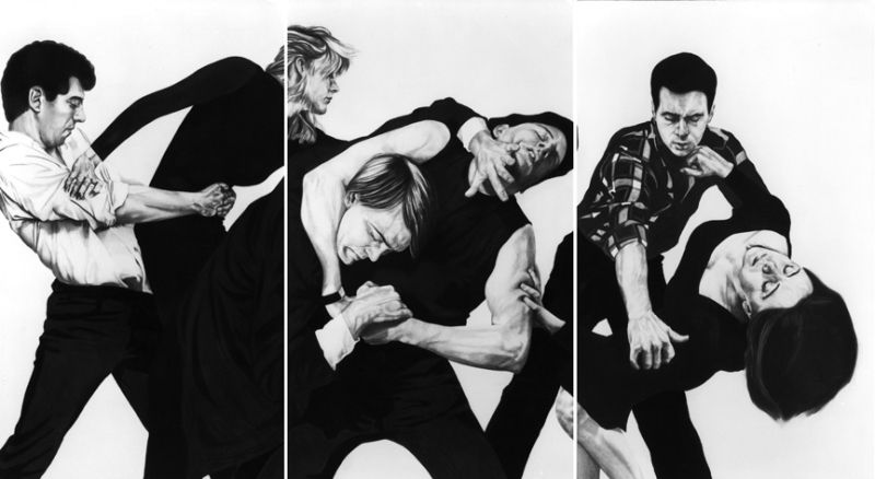 Robert Longo Untitled (White Riot)  1982 Charcoal, graphite and ink on paper 96 x 180 inches/243.8 x 457.2 cm