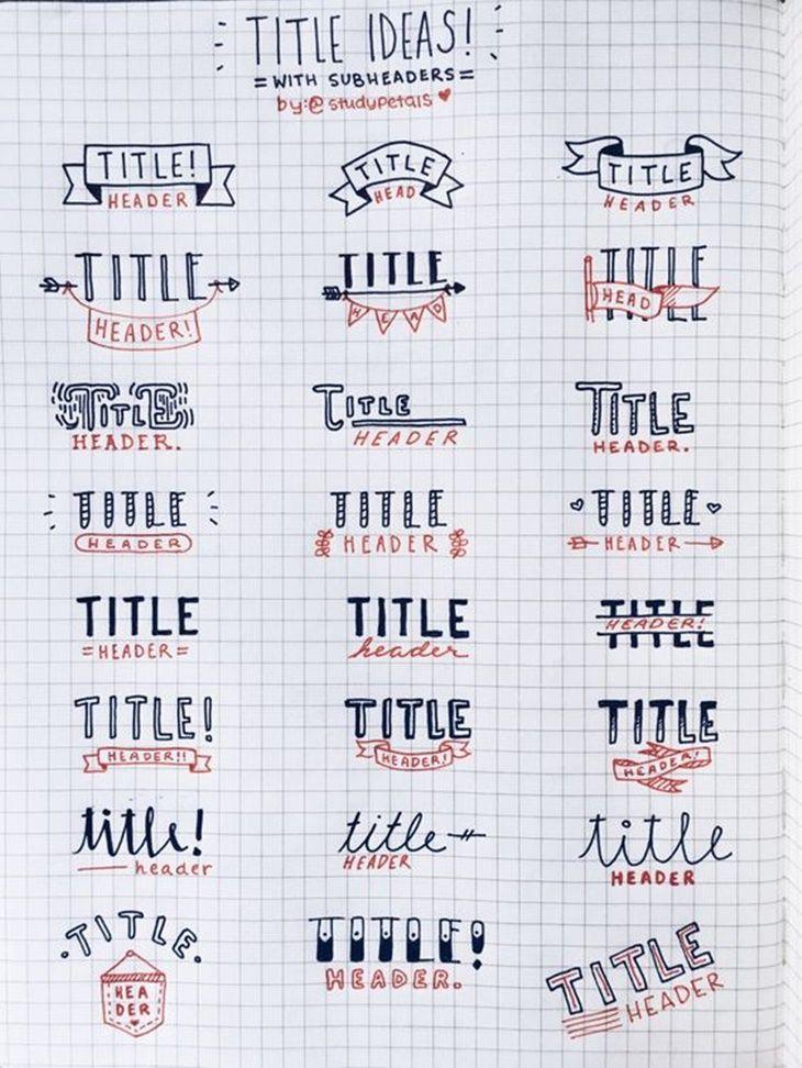 Titulo Lettering Titulos Para Cuadernos Titulos Bonitos Para