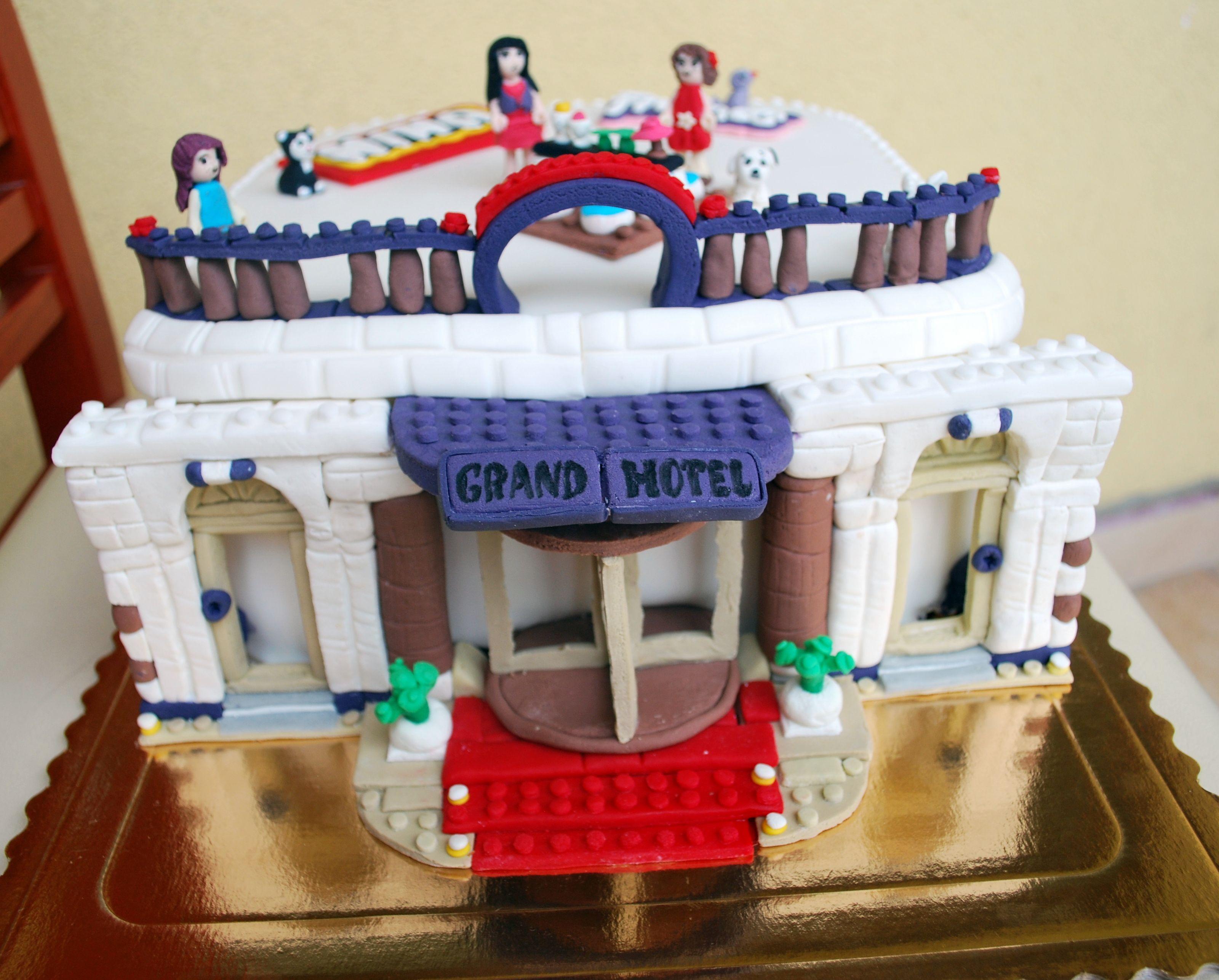 Lego friends heartlake grand hotel 41101 lego friends uk - Lego Friends Grand Hotel Fondant Cake For Ninka