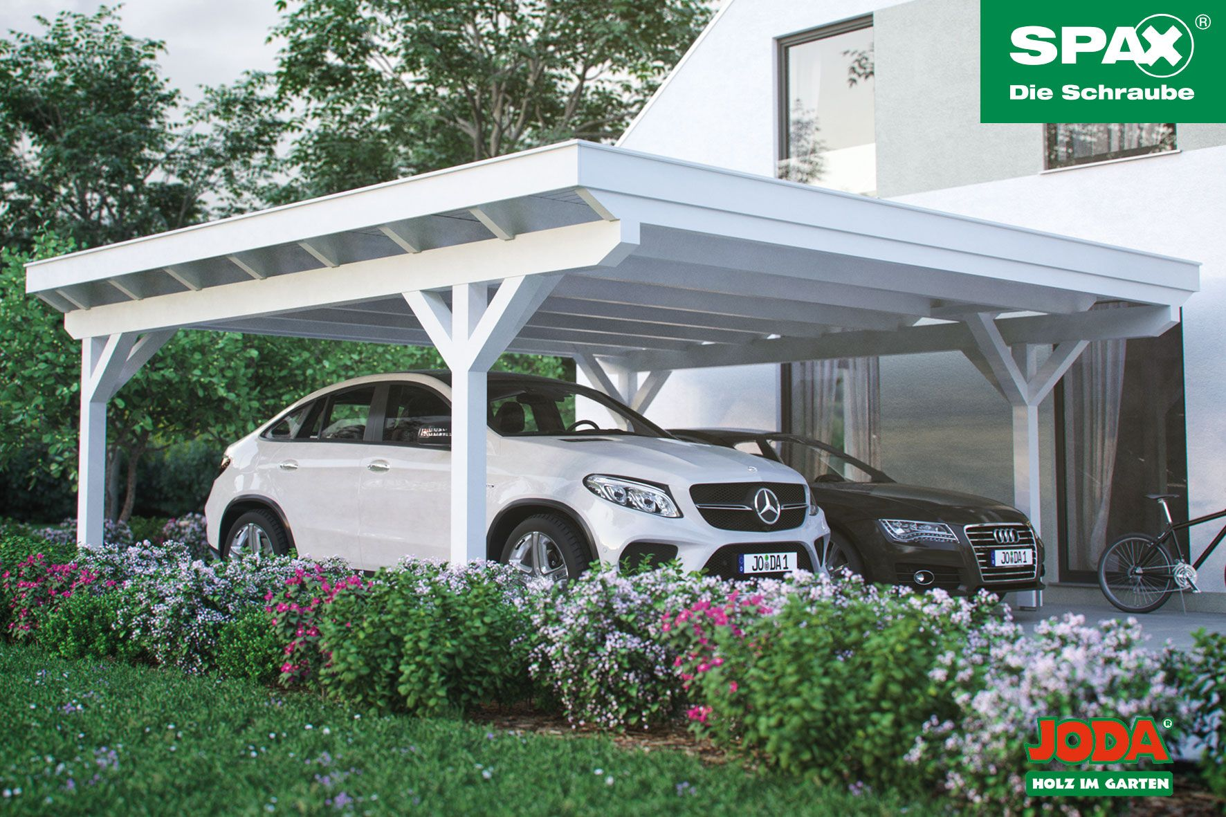 Spax Carport Gerade Die Konzentration Auf Weniger Kann Mehr Ergeben Mehr Freiheit Beim Einparken Mehr Style Furs Auge Und M Doppelcarport Carport Glasdach