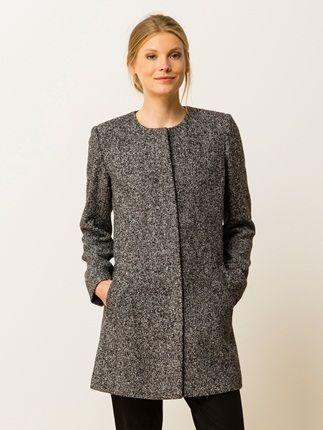 Manteau femme sans col