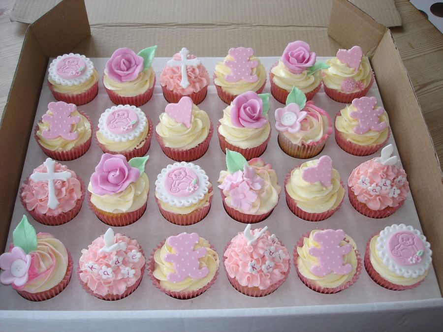 Christening Cupcakes With Images Christening Cupcakes Cupcake