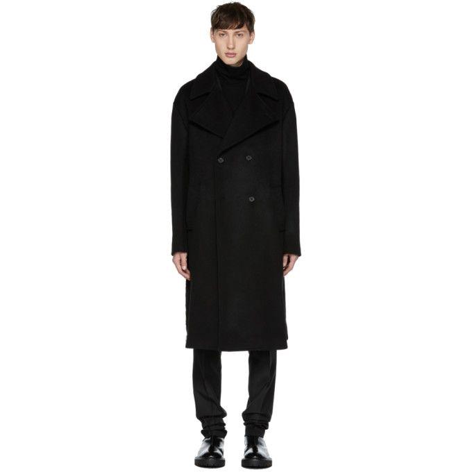 YANG LI Black Oversized Wool Coat. #yangli #cloth #