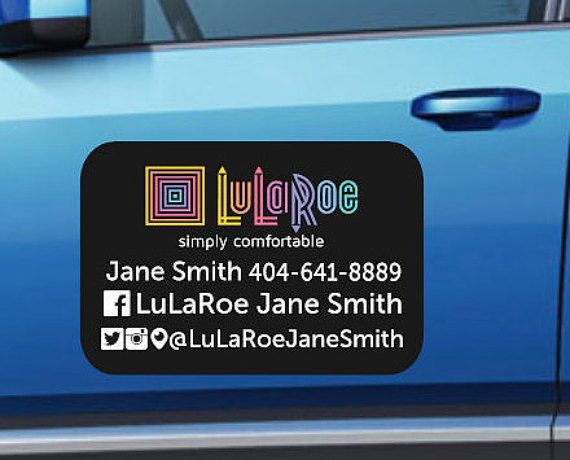 Lularoe Custom Car Magnet Lularoe Magnet Lularoe Car Decal - Auto decals and magnets