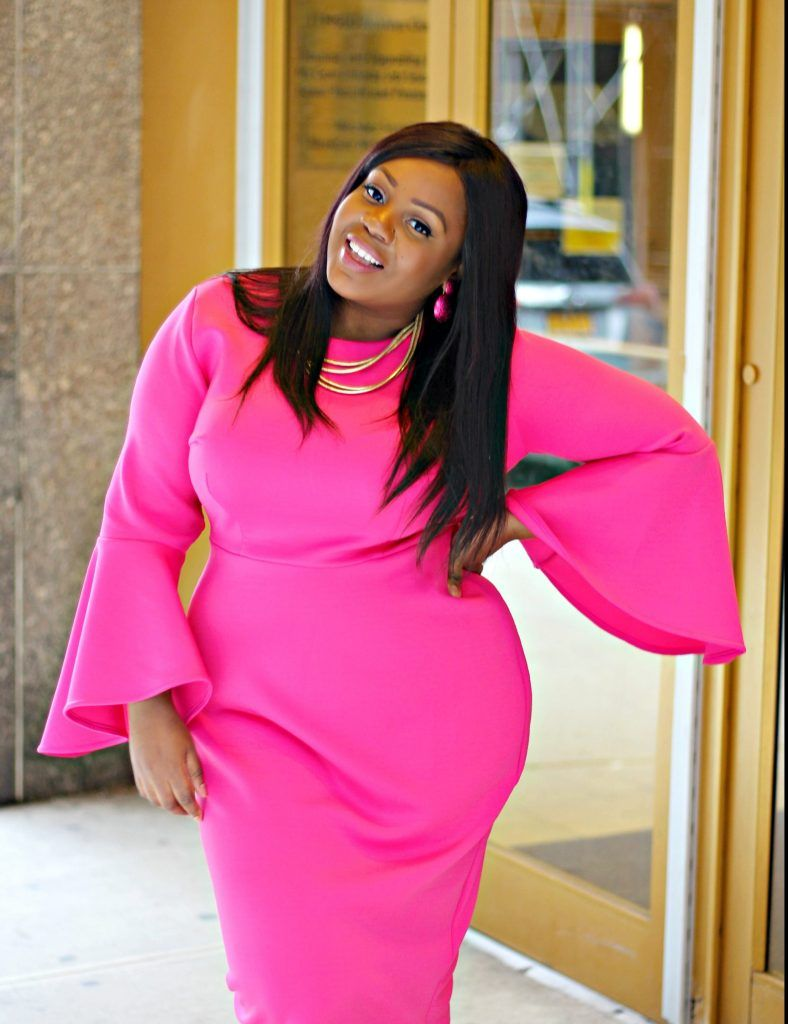 STYLE | Attire | Pink plus size dresses, Dresses, Hot pink ...