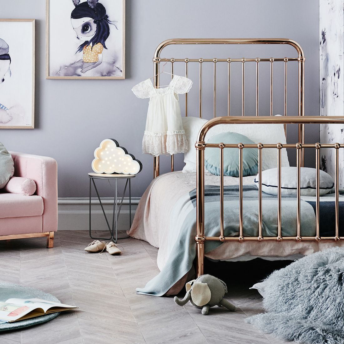 Our all new range of metallic beds. This Rose Gold Kids bed is