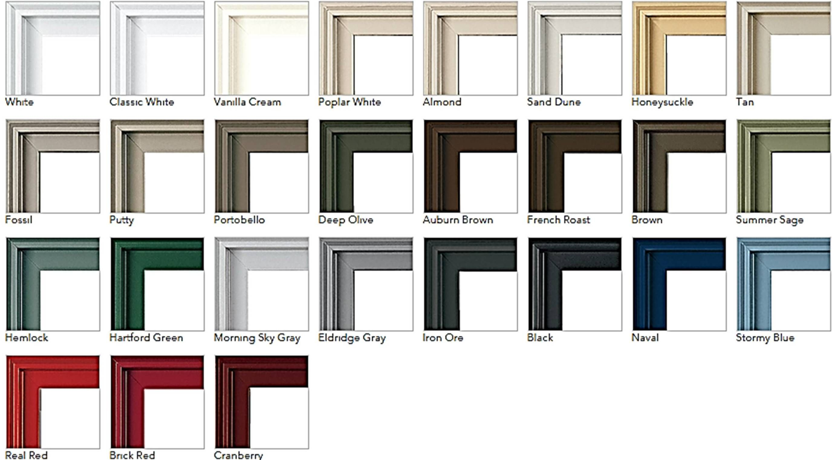 Pella S Aluminum Cladding Is Available In 27 Colors On