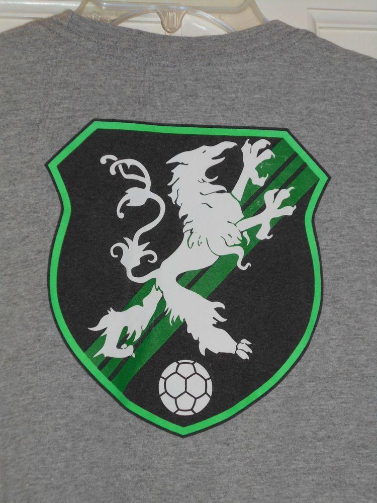 Vtg Nike Fierce Lion Dragon Soccer Ball Graphic Logo Gray Shirtl