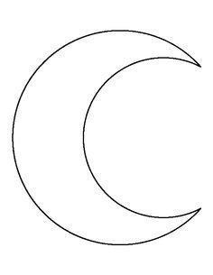 Crescent Moon pattern. Use the printable outline for ...