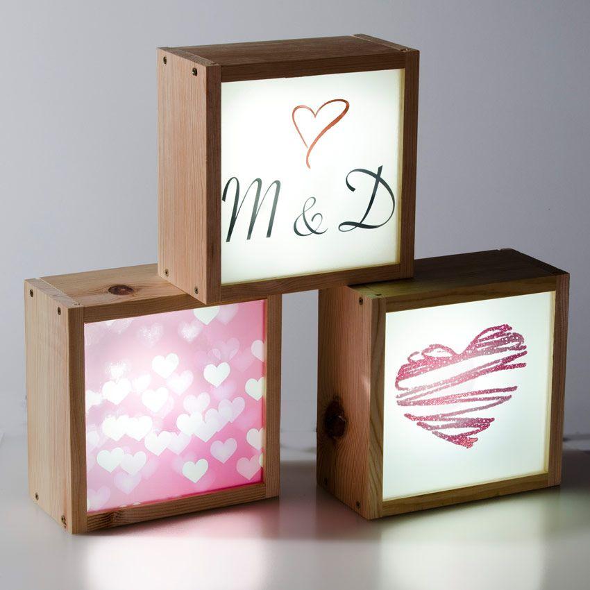 Caja de luz para bodas y eventos sociales original y - Caja de luz de madera ...