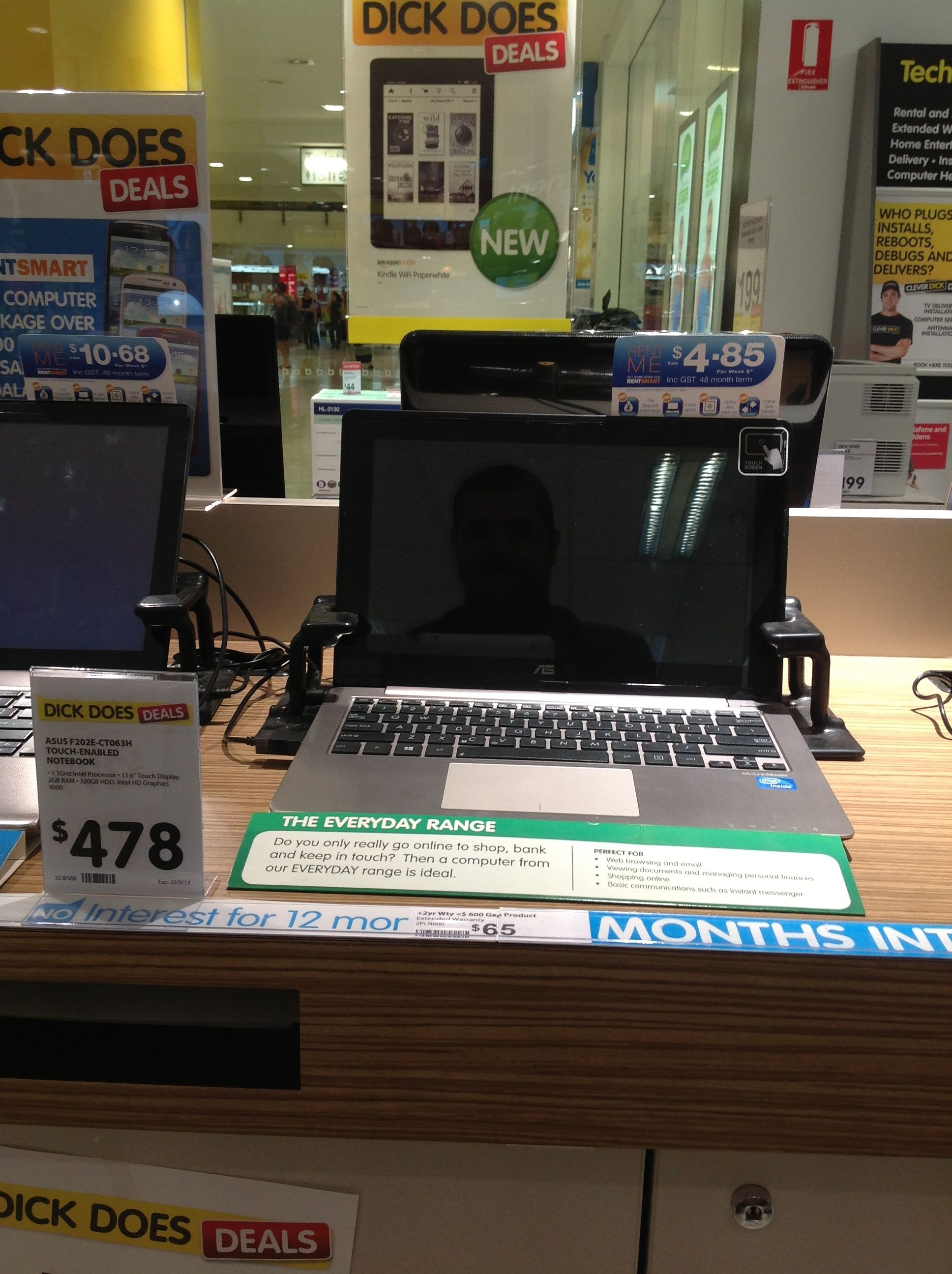Olivia, Dick Smith.  Asus Notebook, $478.00