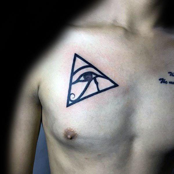 50 Eye Of Horus Tattoo Designs For Men Egyptian Hieroglyph Ink