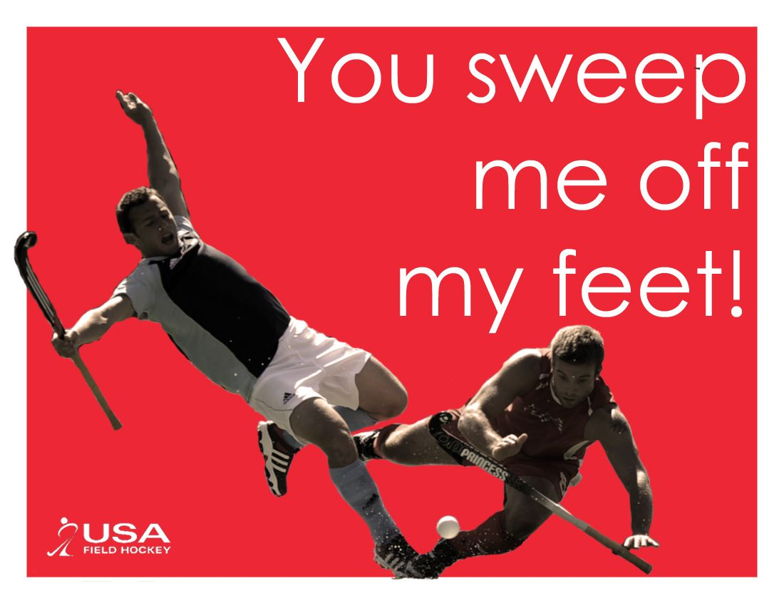 Share the love and the game with our field hockey Valentines Day – Hockey Valentine Cards