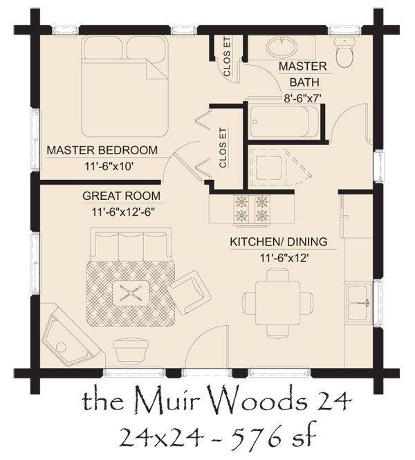 Garage Apartment Plans 24 X 30: Image Result For 20' X 24' Floor Plan