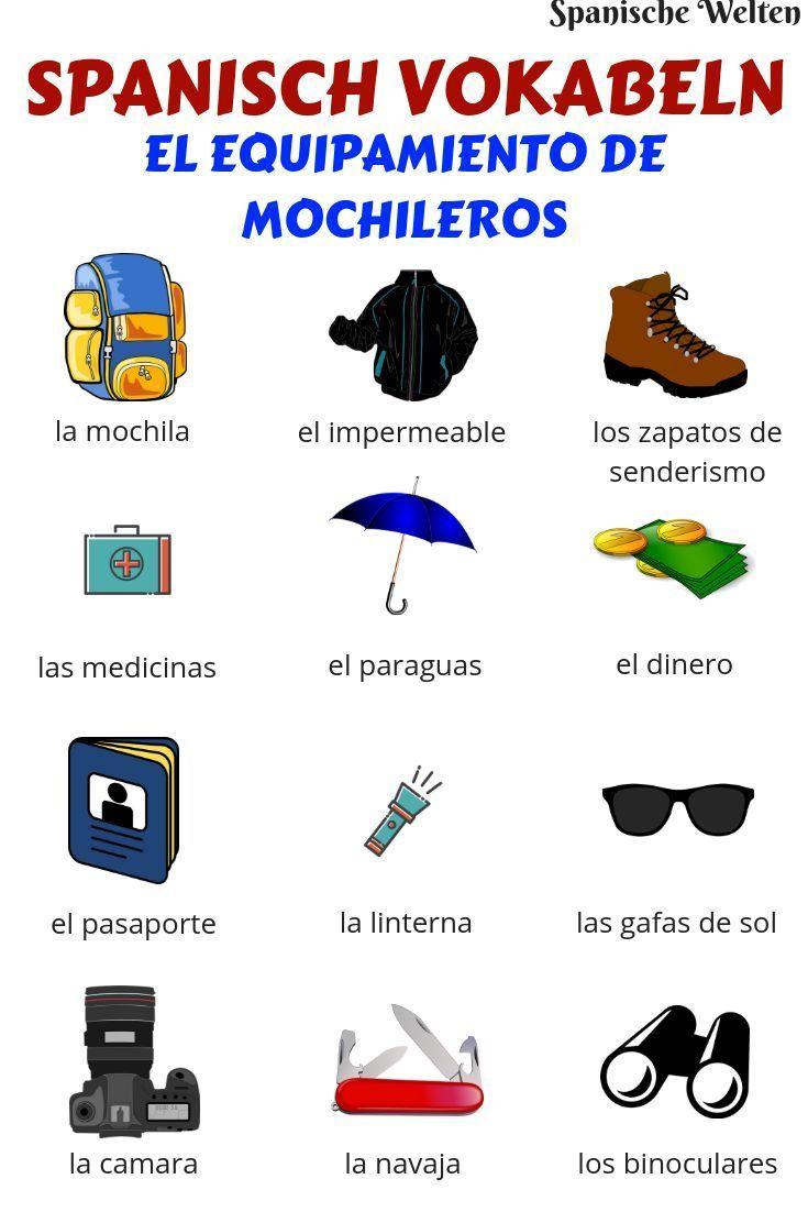 Spanisch Vokabeln: Backpacking #learningspanish