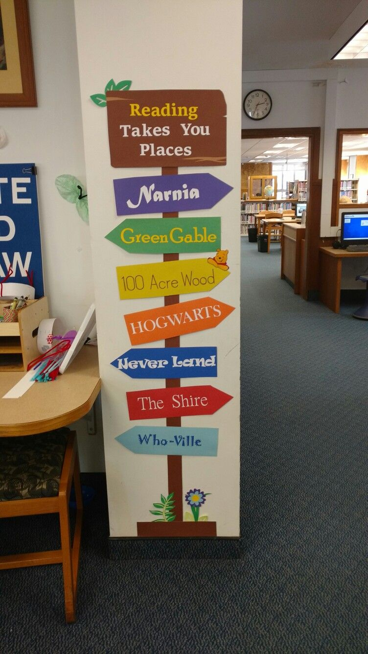 Reading Takes You Places, February 2017. School library