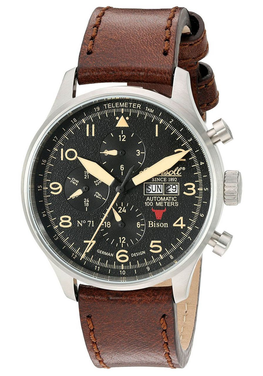 Ingersoll IN1513SBK Bison No. 71 Automatic Silver watch is now available on  Watches.com