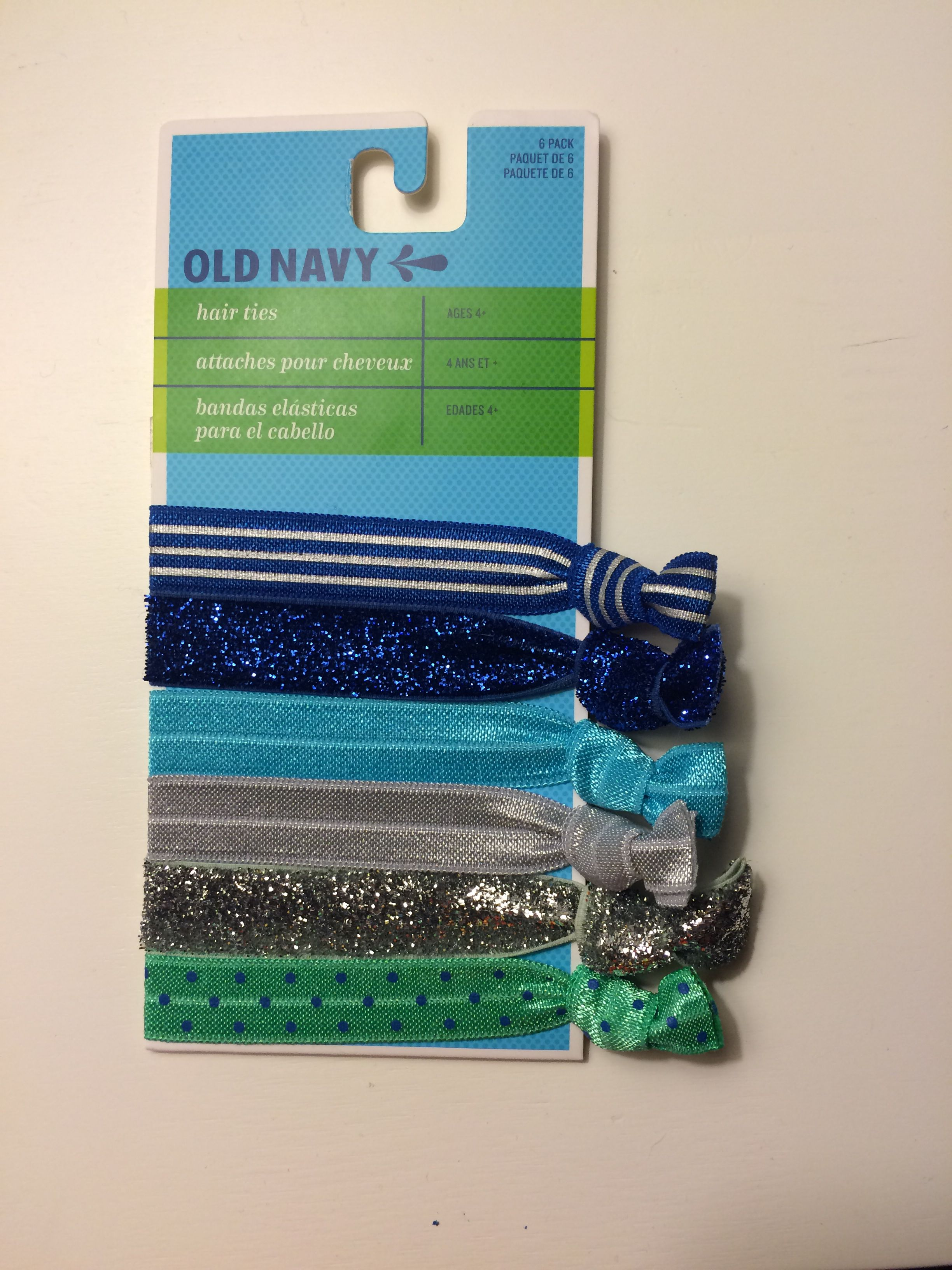 Old Navy Blue Hair Ties  f4894cac2bf