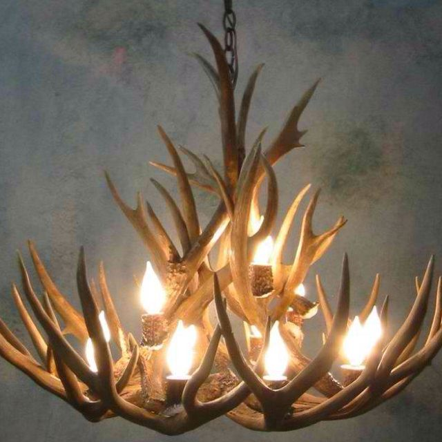 Antler chandelier for the ski chalet pinteres we offer this small bristlecone mule deer antler chandelier and other fine antler lighting and dcor aloadofball Images