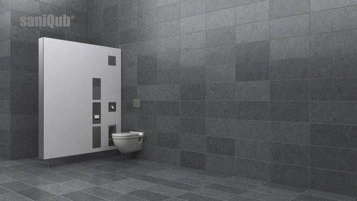 saniQub - Sanitärtrennwand mit Komfortausstattung