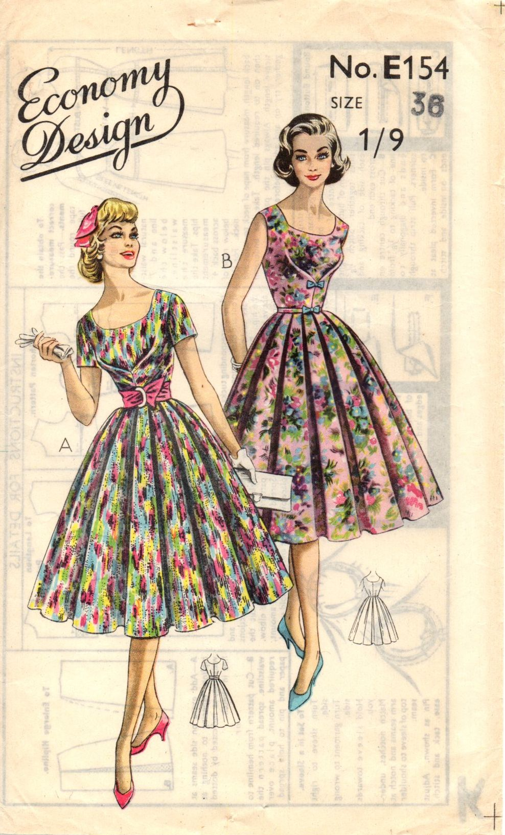 Great Example Of A Central Box Pleat Dart To The Bodice Of This Dress Vintage Clothes Patterns Vintage Dress Patterns Vintage Midi Dresses [ 1634 x 988 Pixel ]