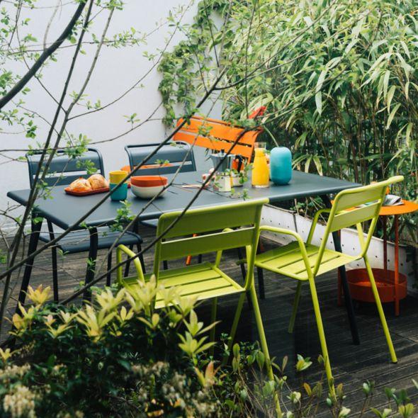 Salon De Jardin Fermob Monceau 4 6 Pers Carbone Verveine Salon De Jardin Fermob Salon De Jardin Mobilier Jardin