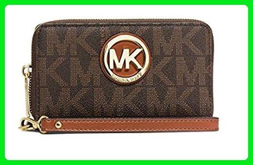5de613c24a9774 MICHAEL Michael Kors Fulton Large Smartphone Wristlet Brown - Wristlets  (*Amazon Partner-Link)