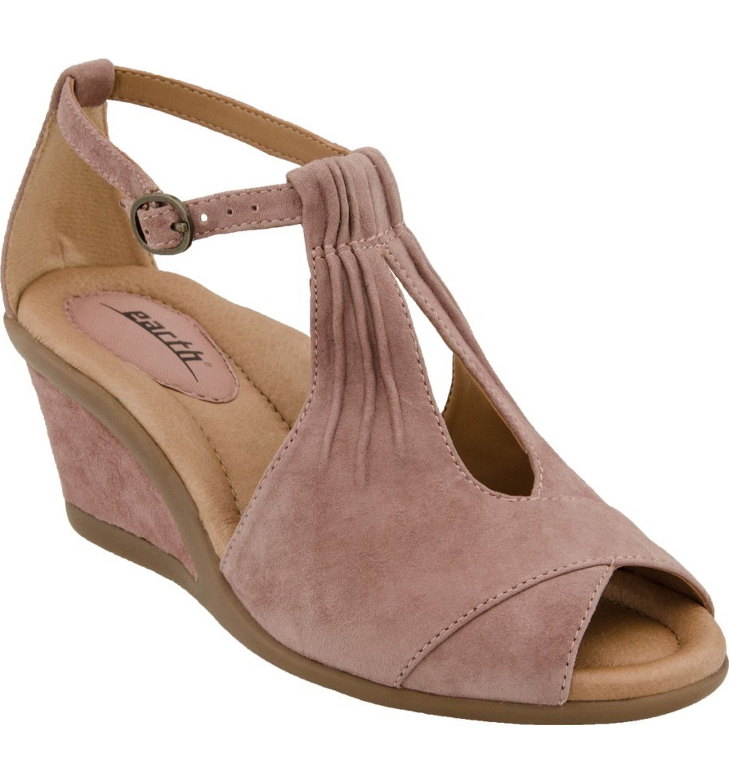 ed12a50b7d1 Main Image - Earth®  Caper  T-Strap Wedge Sandal (Women)