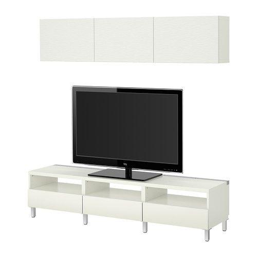 Ikea Besta Tv Storage Combination Laxviken White 379 Living