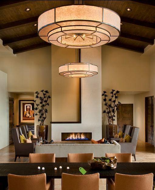 High ceiling earthy tones  lovely pendants spanish interior modern home design also inspiring interiors rh pinterest