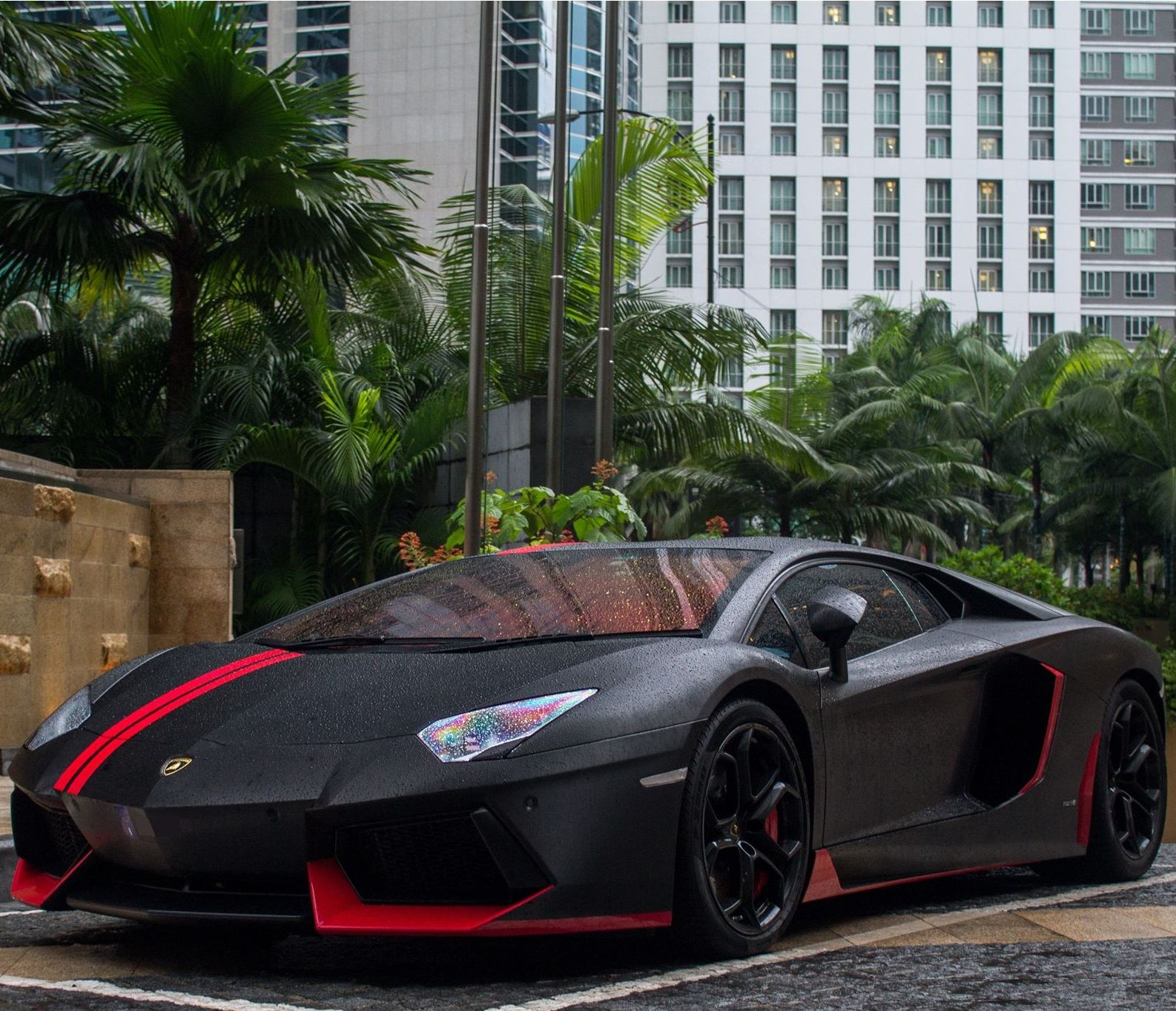 Red Lamborghini Aventador: Black And Red Aventador #CarFlash