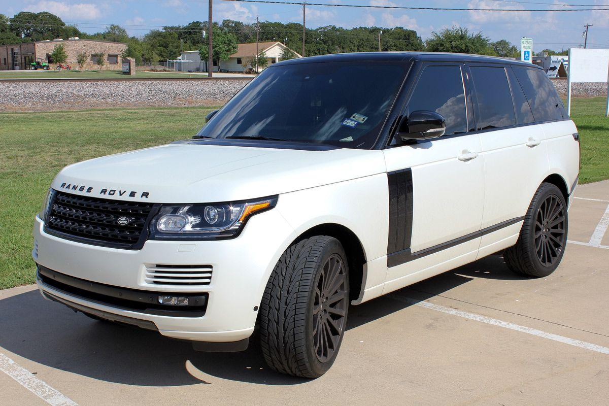 satin pearl white range rover matte and satin wraps. Black Bedroom Furniture Sets. Home Design Ideas