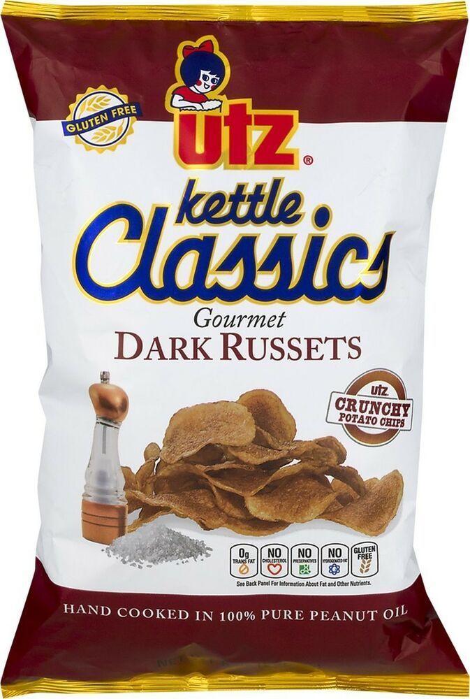 Utz Kettle Classics Gourmet Dark Russets Potato Chips 8 oz. Bag (4 Bags) #UTZ #russetpotatorecipes Utz Kettle Classics Gourmet Dark Russets Potato Chips 8 oz. Bag (4 Bags) #UTZ #russetpotatorecipes