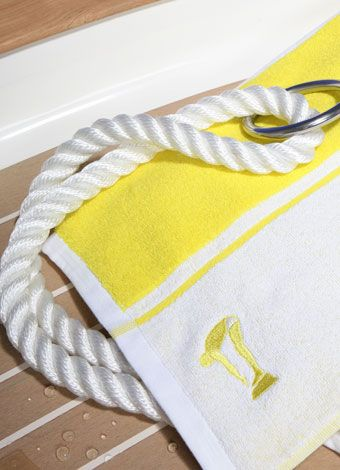 Sunshine Yellow White Beach Towel Terry Rich Australia With