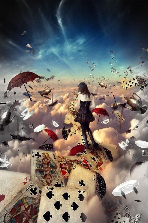 Alice im Wunderland. Bildbearbeitung kann genauso kreativ sein wie das Märchen.